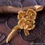 IPS-K12金-2月の花の真珠ブローチ