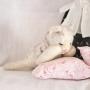 アンティークシュタイフ眠り猫
