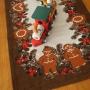 北欧のクリスマス柄ヴィンテージテーブルセンター2