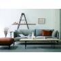 dual sofa 3P/white ash+Fabric