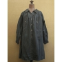 "early 20th c. indigo linen smock ""open"" dark indigo"