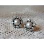 真珠とダイヤのクラスターピアス《Tesoro*テゾーロ》