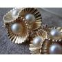 真珠&ダイヤモンドの貝殻ピアス《Tesoro*テゾーロ》