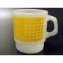 ★70'sファイヤーキング黄色ギンガムチェックマグカップ
