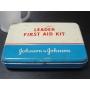 ★60's ジョンソン&ジョンソン社リーダー ファーストエイド キット缶