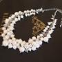 真珠の首飾り(銀色)