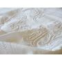 19世紀の白刺繍の花文字 アンティークリネンシーツ《Early Summer》