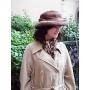 ロイヤルパステルミンクの優雅なハット帽 《Early Summer》
