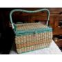 編みパニエ型裁縫箱