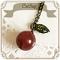 レッドルチルのリンゴちゃんネックレス