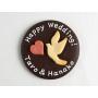 ハト&ハートのメッセージクッキー